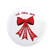 "Red Ribbon Week 3.5"" Button"