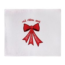 Red Ribbon Week Throw Blanket