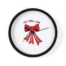 Red Ribbon Week Wall Clock