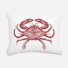 Vintage Crab Rectangular Canvas Pillow