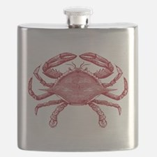 Vintage Crab Flask