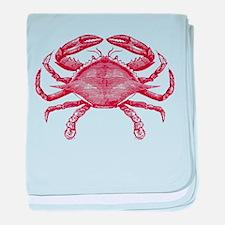 Vintage Crab baby blanket
