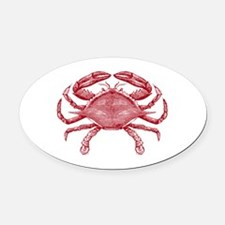 Vintage Crab Oval Car Magnet