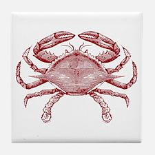 Vintage Crab Tile Coaster