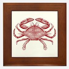 Vintage Crab Framed Tile