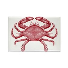 Vintage Crab Rectangle Magnet