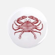 "Vintage Crab 3.5"" Button"