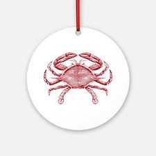 Vintage Crab Ornament (Round)