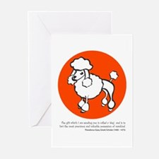 Poodle Greeting Cards (Pk of 10)