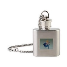 Fish Swimmer Flask Necklace