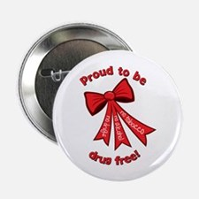 "Proud to be Drug Free 2.25"" Button"