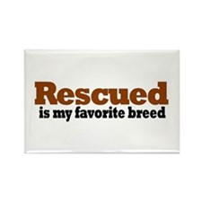 Rescued Breed Rectangle Magnet (100 pack)