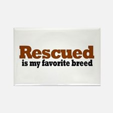 Rescued Breed Rectangle Magnet