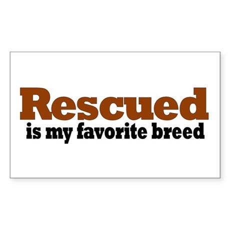 Rescued Breed Rectangle Sticker