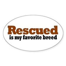 Rescued Breed Oval Decal