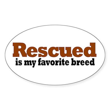 Rescued Breed Oval Sticker