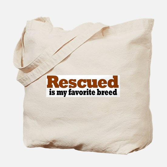 Rescued Breed Tote Bag