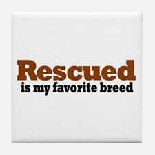 Rescued Breed Tile Coaster