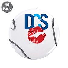 "KissFist DCS 3.5"" Button (10 pack)"