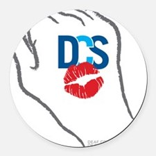 KissFist DCS Round Car Magnet