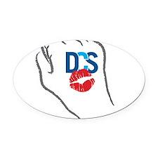 KissFist DCS Oval Car Magnet