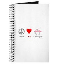 Peace Love Flamingos Journal