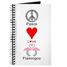 Peace Love Flamingos Journal