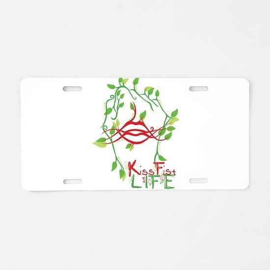 KissFist Life Aluminum License Plate