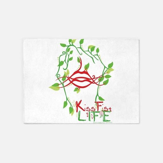 KissFist Life 5'x7'Area Rug
