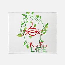 KissFist Life Throw Blanket