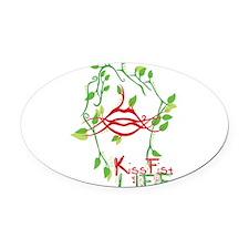 KissFist Life Oval Car Magnet