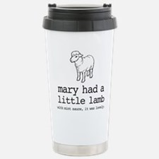Mary Had A Little Lamb Stainless Steel Travel Mug