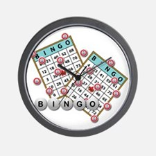 Bingo Cards Wall Clock