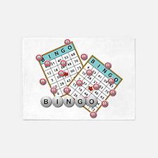 Bingo Cards 5'x7'area Rug