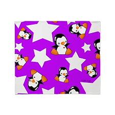 Star Penguins Throw Blanket