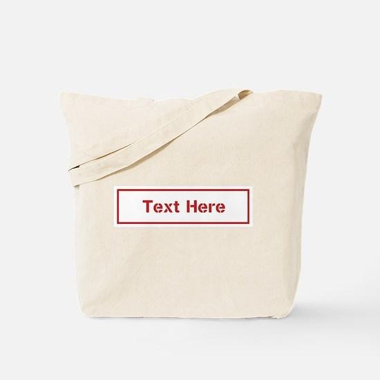Custom Cargo Label Tote Bag