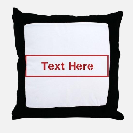 Custom Cargo Label Throw Pillow