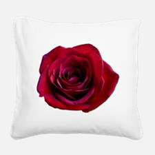 Red Rose Square Canvas Pillow