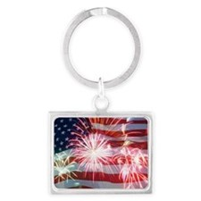 4th of July Landscape Keychain