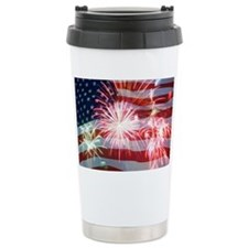 4th of July Travel Mug