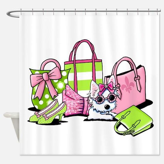 KiniArt Girlie Things Olivia Shower Curtain