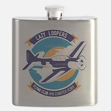 Lazy Loopers Flying Club LOGO Flask