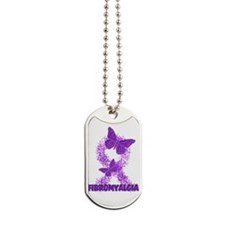 Fibromyalgia Ribbon By Candidog Dog Tags