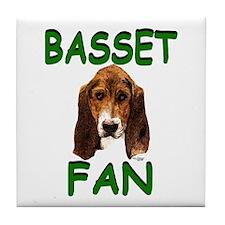 Basset Fan Tile Coaster