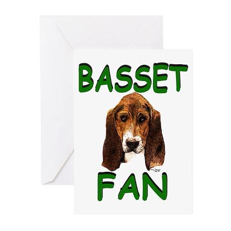 Basset Fan Greeting Cards (6)