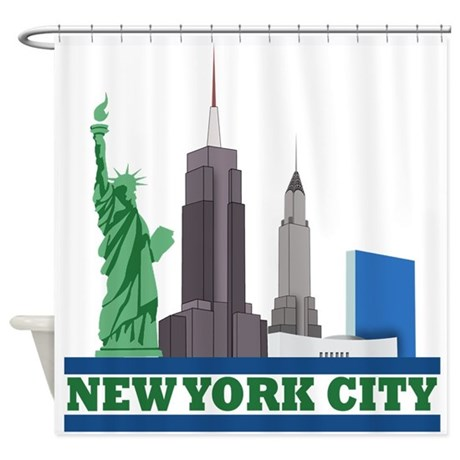 New york city skyline shower curtain by expressyoursoul Blackout curtains city skyline