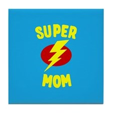 Super Mom Supermom Tile Coaster