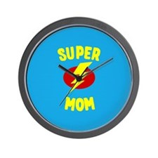 Super Mom Supermom Wall Clock