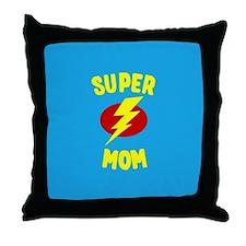 Super Mom Supermom Throw Pillow