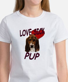 Love Sick Basset Women's T-Shirt